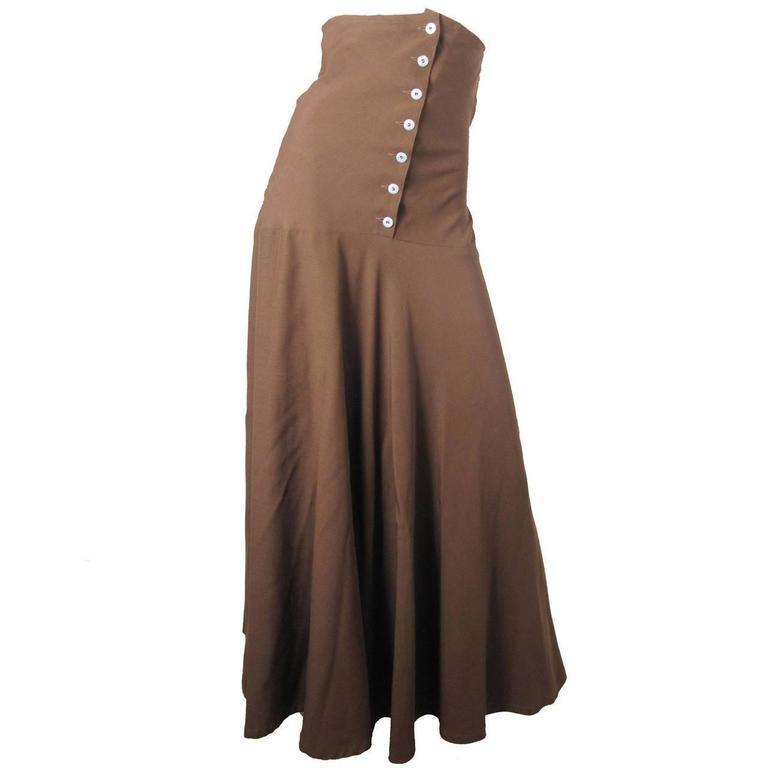 1990s Jean Paul Gaultier for Gibo high waisted skirt