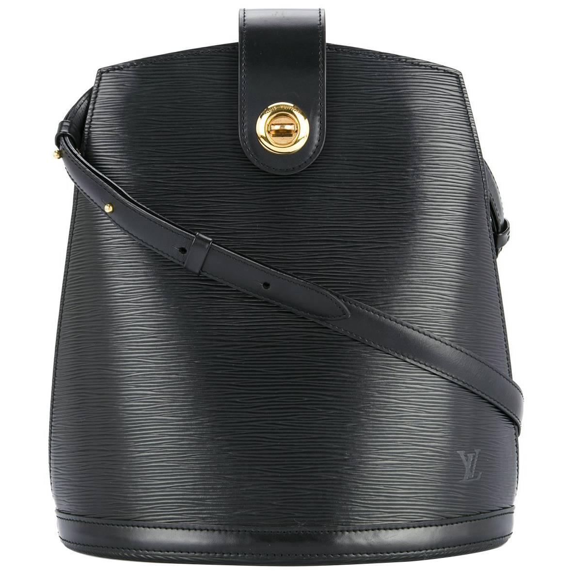 Louis Vuitton Leather Gold Bucket Carryall Evening Shoulder Bag