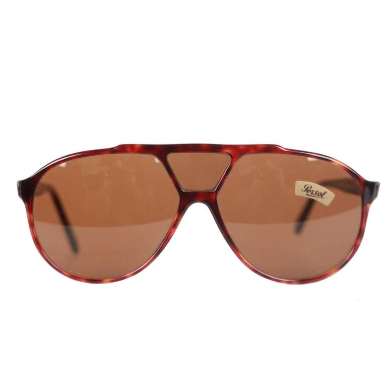 5188ebf8b184f PERSOL RATTI Vintage Brown MINT RARE Sunglasses 802 137 24 MEFLECTO For Sale