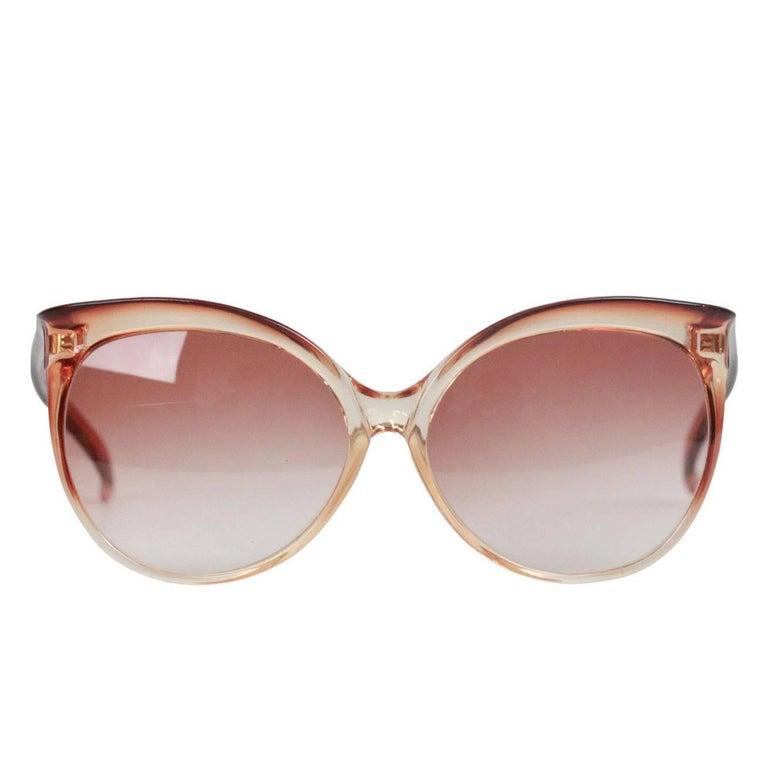 Yves Saint Laurent Vintage 8059 Butterfly Oversized Honey Sunglasses