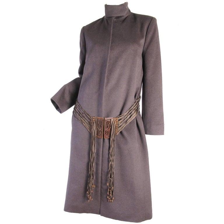Chloe Coat with Beaded Fringe Belt