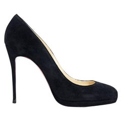 Black Christian Louboutin Suede Pumps