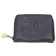 Black Chanel Caviar Leather Timeless Wallet