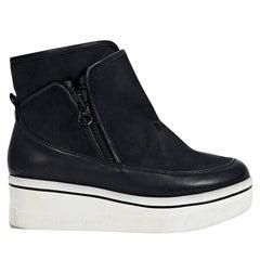 Black Stella McCartney Binx Platform Ankle Boots