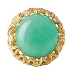 Fouche Chrysoprase Gold Ring, Made to Order