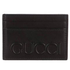 Gucci New Men's Leather Logo 2 in 1 Business Credit Card Case Money Clip in Box
