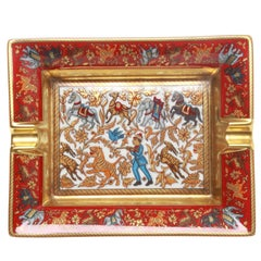 Hermes Chasse En Inde Porcelain Ashtray