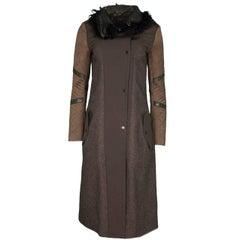 Belstaff Wool Coat & Curly Lamb Fur Coat Sz IT38