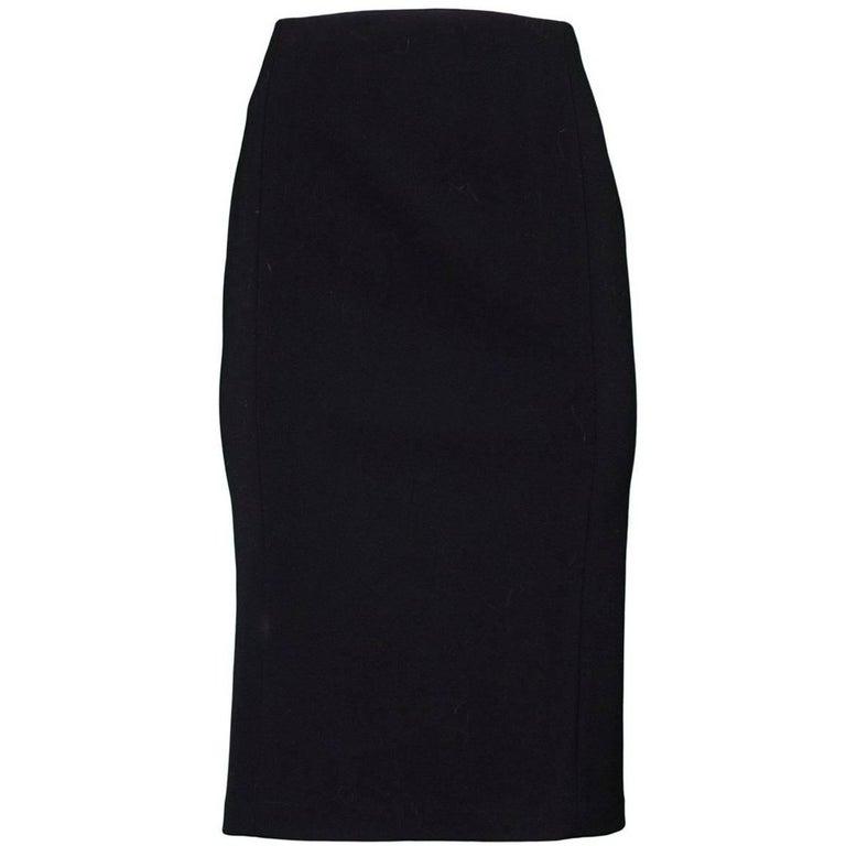 Ralph Lauren Black Wool Skirt Sz 6