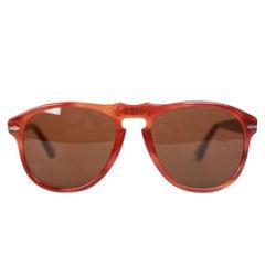 Persol Ratti Vintage Brown Legendary 649/4 Mint Sunglasses 56mm NOS