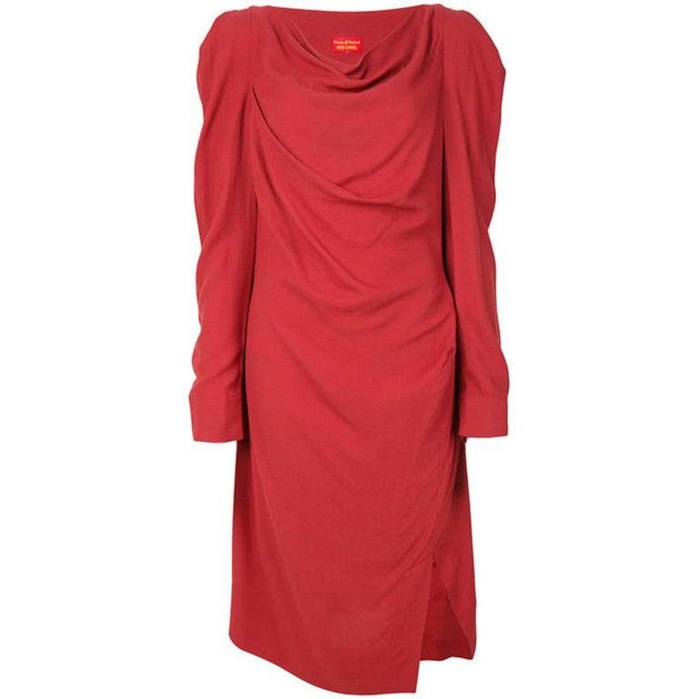 Red Crepe Vivienne Westwood Dress