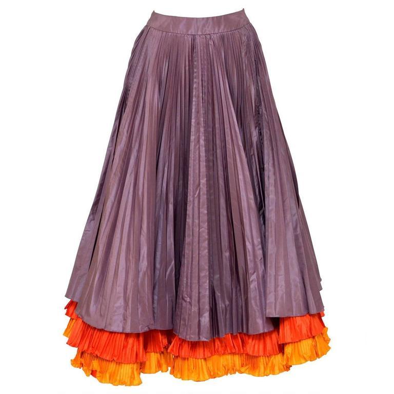 Oscar De La Renta Vintage  Ball  Skirt Mint