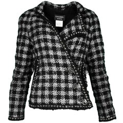 Chanel F/W 2011 Runway Black/Silver Fantasy Tweed Swing Jacket