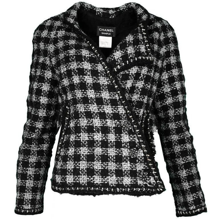 Chanel F/W 2011 Runway Black/Silver Fantasy Tweed Swing Jacket, sz 12 rt. $6,055