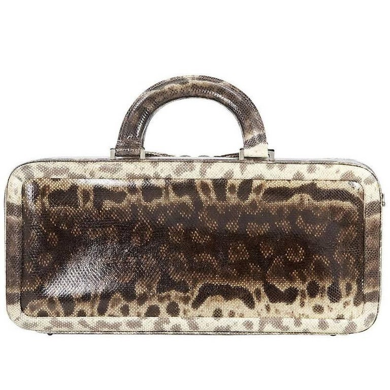 Tan Suarez Lizard Handbag For Sale