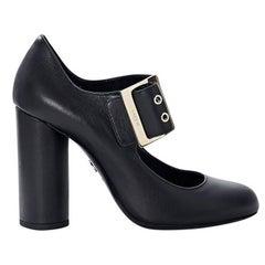 Lanvin Black Leather Mary Jane Pumps