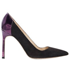 Brown Manolo Blahnik Suede Pumps