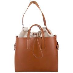 Hermes Runway Leather Cognac Men's Carryall Duffle Travel Weekender Tote Bag
