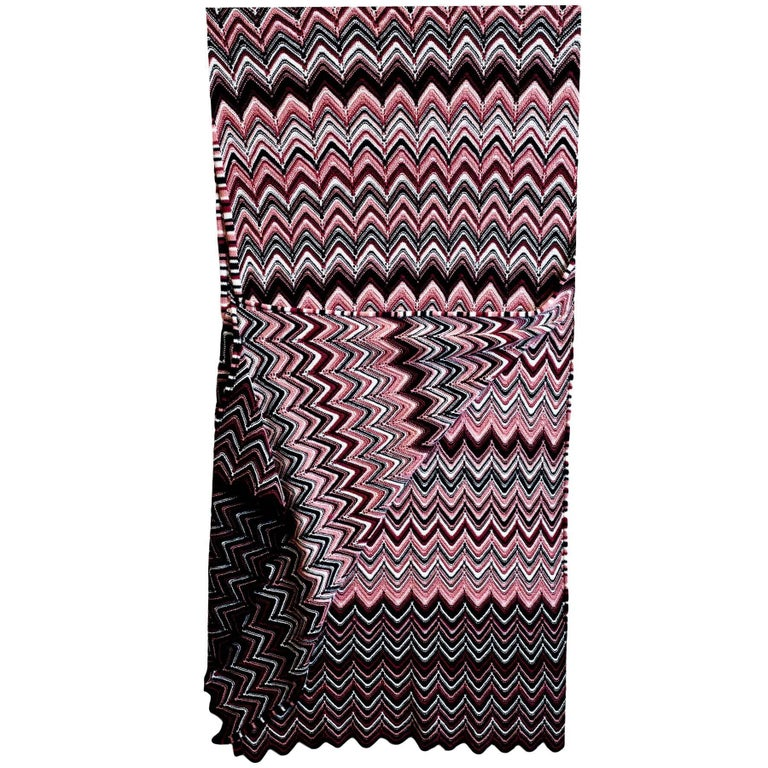 Missoni Multi-Colored Chevron Knit Wool Scarf For Sale at 1stdibs 0ffec2d2f