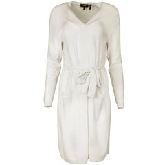 Theory Cream Cashmere Long Open Cardigan sz L