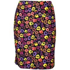 Dries Van Noten Floral Print Skirt Sz FR42