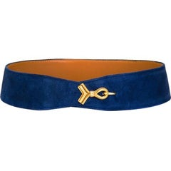 Gorgeous Hermes Electric Blue Cordeaux Belt