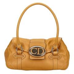 Dior Brown Leather Vintage Traveler Bag