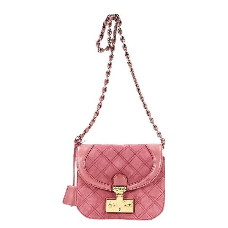 Marc Jacobs Pink quilted Spice Crossbody Bag
