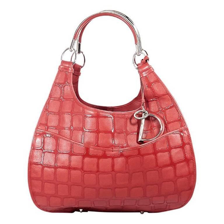 36dfc3828cf0 Christian Dior Red Leather 61 Shoulder Bag at 1stdibs