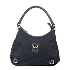 Gucci Black Canvas GG Shoulder Bag