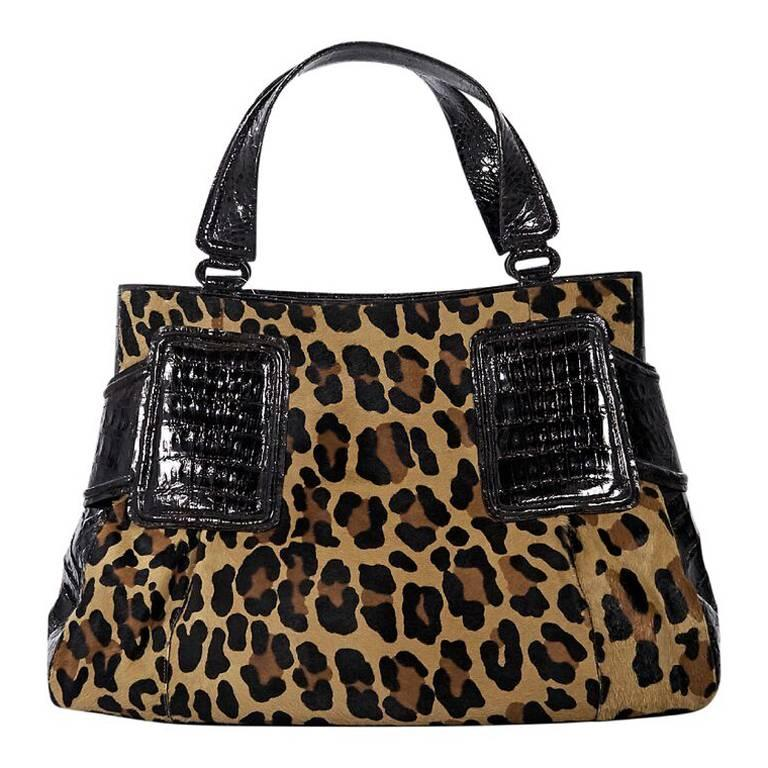 Nancy Gonzalez Multicolor Leopard Print Tote Bag For