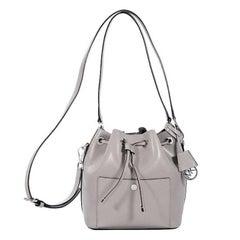 Michael Kors Grey Saffiano Leather Bucket Bag