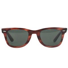 Ray Ban B&L 5024 Vintage Wayfarer Brown Sunglasses