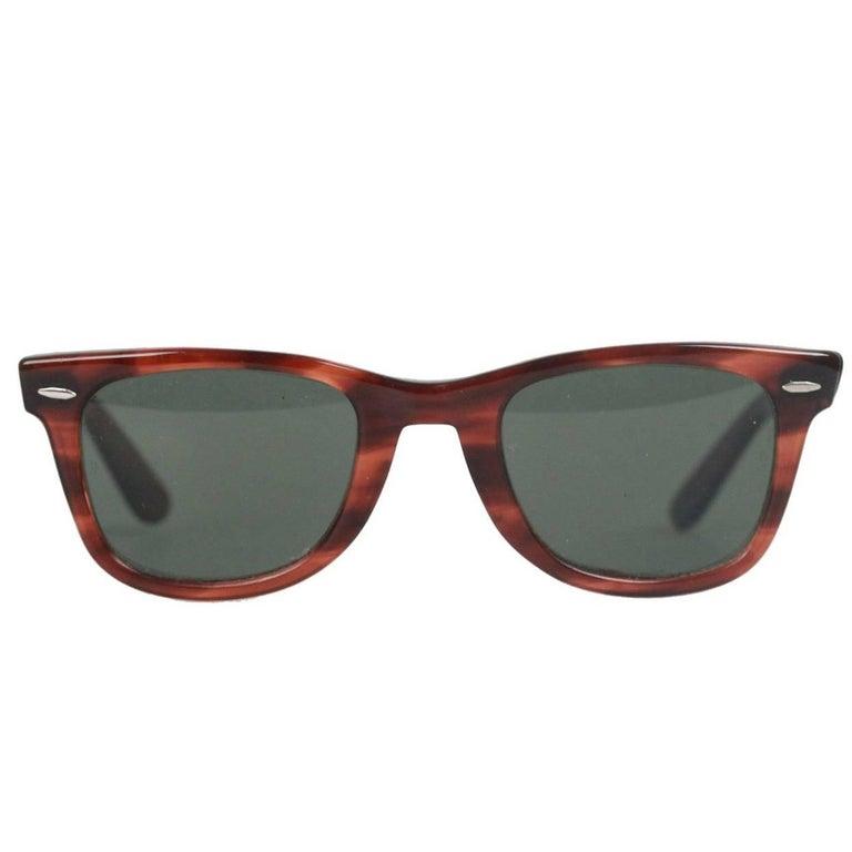 b362e75935 Ray Ban B L 5024 Vintage Wayfarer Brown Sunglasses For Sale at 1stdibs