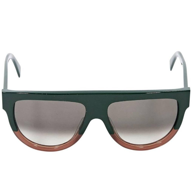 cfdc7c9894316 Green and Brown Celine Sunglasses For Sale at 1stdibs