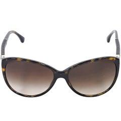 Brown Chanel Tortoiseshell Sunglasses
