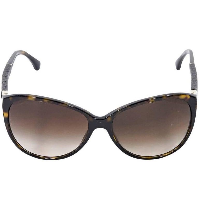 Brown Chanel Tortoiseshell Sunglasses For Sale