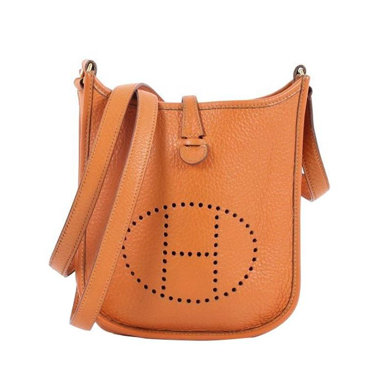 Hermes Long Strap Evelyne Crossbody Bag Clemence TPM at 1stdibs d11429c7f