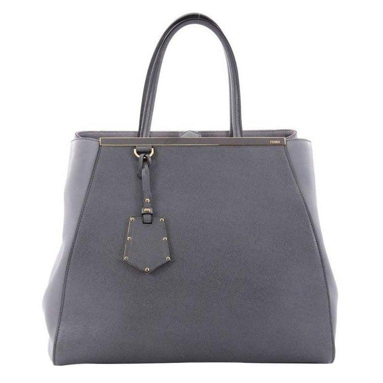 Fendi 2Jours Handbag Leather Large