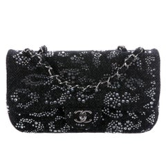 Chanel NEW Runway Swarovski Crystal Evening Shoulder Medium Flap Bag in Box