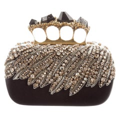 Alexander McQueen NEW Ltd. Ed. Bead Swarovski Crystal  Evening Clutch Bag in Box