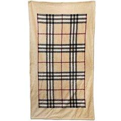 Burberry Large Tan Nova Check Towel NWT