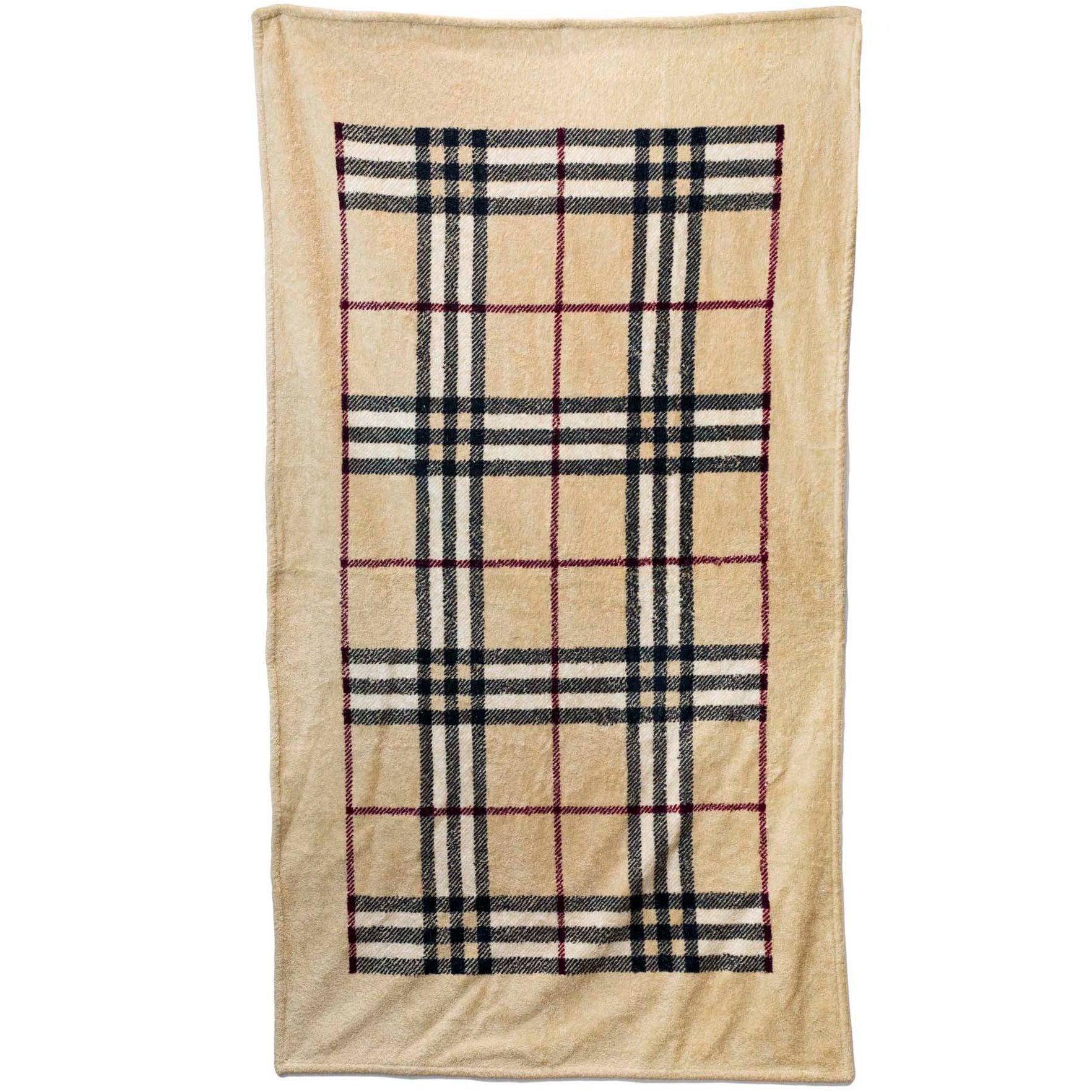 6b07bc0cce44 Burberry Large Tan Nova Check Towel Nwt At 1stdibs