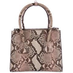 Prada NEW Multi Color Snakeskin Top Handle Kelly Style Satchel Shoulder Bag