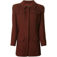 Chanel Vintage Brick Red Wool Suit, 1990s
