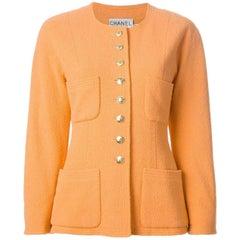 Chanel Orange Wool Jacket, 1980s