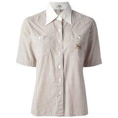 Céline Striped Cotton Vintage Shirt, 2000s