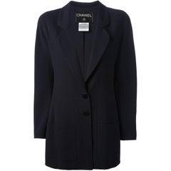 Chanel Dark Blue Wool Blazer, 1990s