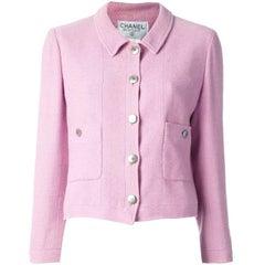 Chanel Pink Cotton Vintage Jacket, 1990s