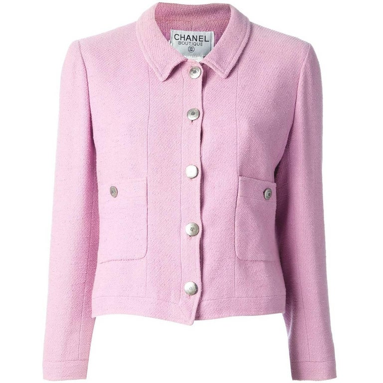 Chanel Pink Cotton Vintage Jacket, 1990s